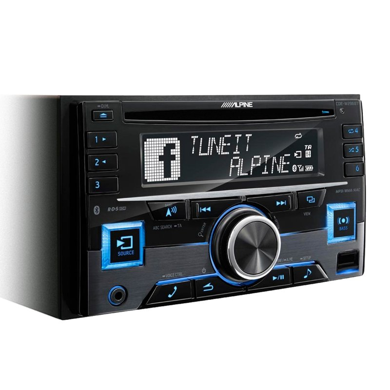 Alpine CDE-W296BT- 2-Din Receiver met Bluetooth